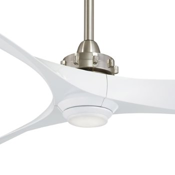 Shown in Brushed Nickel with White blades finish, Detail View