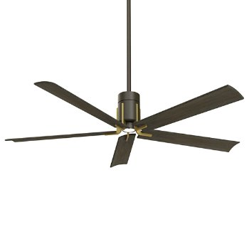 Shown in Oil Rubbed Bronze/Toned Brass with Urban Walnut blades finish