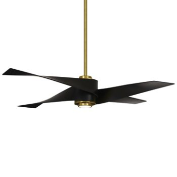 Shown in Soft Brass with Matte Black blades finish