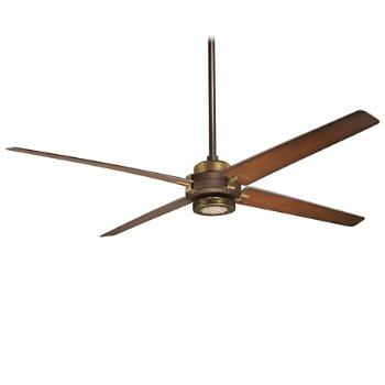 Shown in Oil Rubbed Bronze/Antique Brass with Tobacco Blades finish