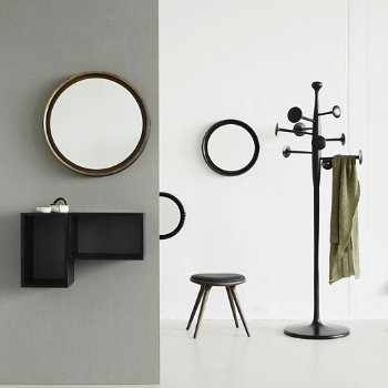 Sophie Mirror with Trumpet Coat Stand