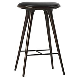 High Stool (Dark Stained Beech/Bar Height) - OPEN BOX RETURN