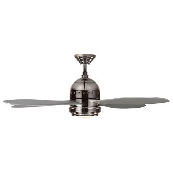 Shown in Polished Nickel with Grey Blades finish, lit kit
