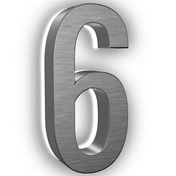 Lumanumber #6 (Brushed Nickel/7 Inch) - OPEN BOX RETURN