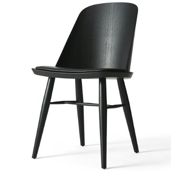 Shown in Black Ash with Black Silk Leather