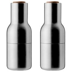 Bottle Grinders Set of 2 - Brushed Stainless Steel