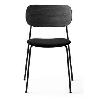 Shown in Icon: Black Fabric Seat Material, Black Oak Veneer Frame finish
