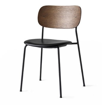 Shown in Dakar Leather: Black Seat Material, Dark Stained Oak Frame finish