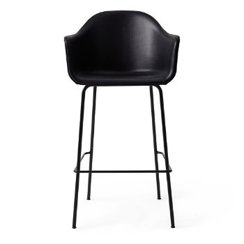 Shown in Dakar Leather: Black with Black fabric, Bar size