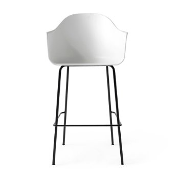 Shown in White with Black finish, Bar size