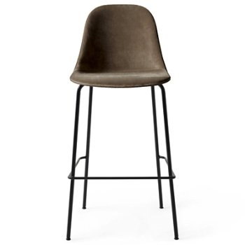 Shown in City Velvet: Grey with Black fabric, Counter Height