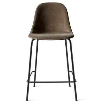 Shown in Dakar Leather: Black with Black fabric, Counter Height