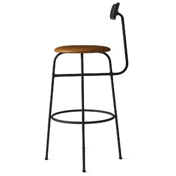 Shown in Black with Cognac Leather Fabric, Counter Height