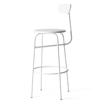 Shown in White with No Upholstery , Bar Height