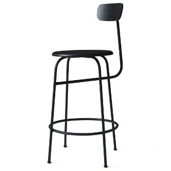 Shown in Black with  No Upholstery, Counter height
