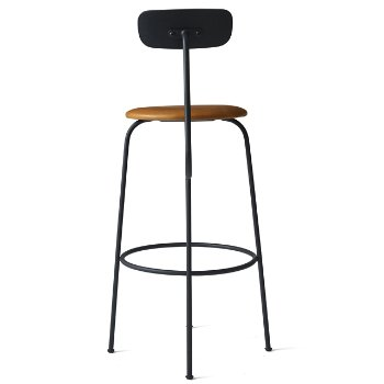 Shown in Black with Cognac Leather Fabric, Bar Height