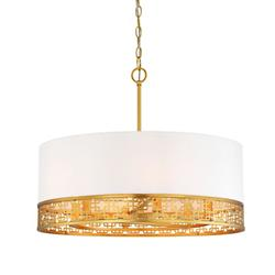 Blairmoor Drum Pendant With Silk Shade