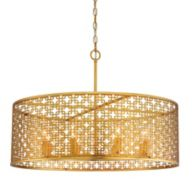Gold Drum Pendant Lighting