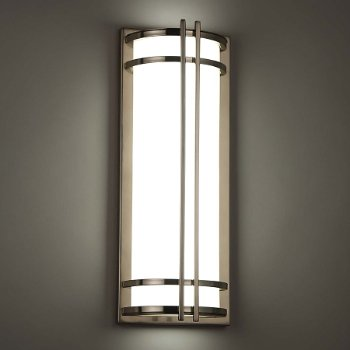 Shown lit in Stainless Steel, 18 in