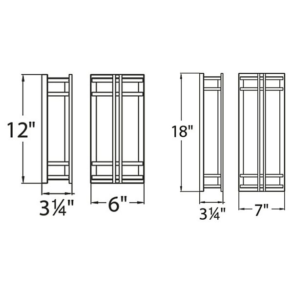 Skyscraper LED Outdoor Wall Sconce