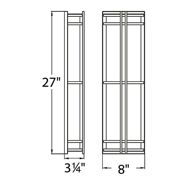 Skyscraper Tall Outdoor LED Wall Sconce