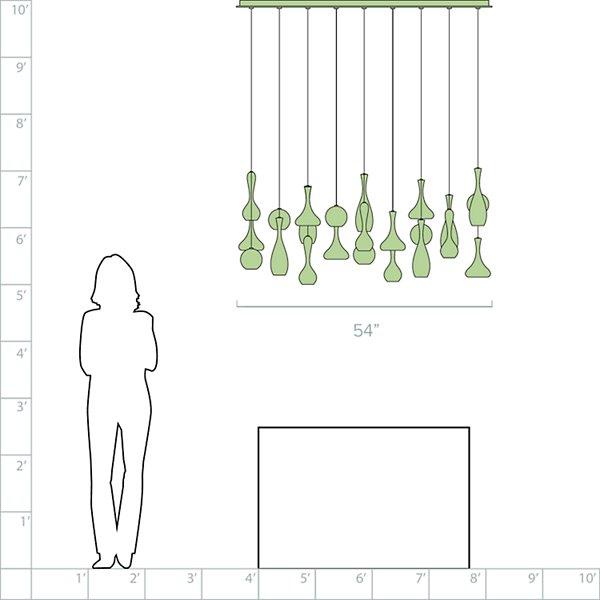 Acid Rectangular Multi-Light Pendant