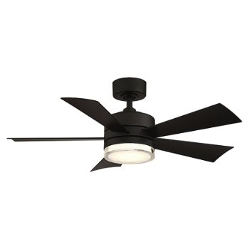 Shown in Matte White Fan Body and Blade finish, 42 inch