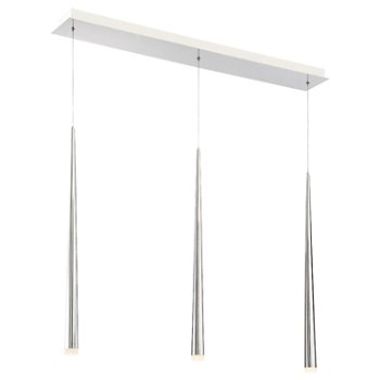 Cascade Etched Glass Linear Suspension