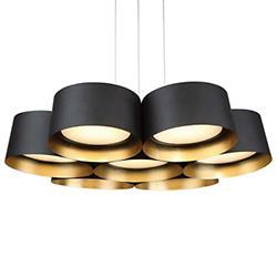 Marimba LED Pendant (Dark Bronze w/ Gold/34 Inch) - OPEN BOX