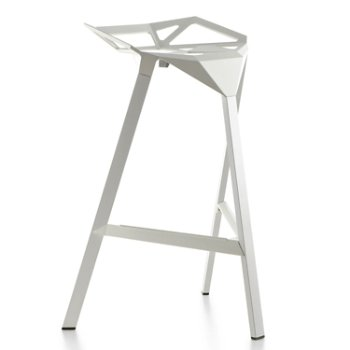 Shown in Barstool, Red/Painted Aluminum Legs