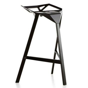 Shown in Barstool, Black/Anodised Aluminum Black Legs