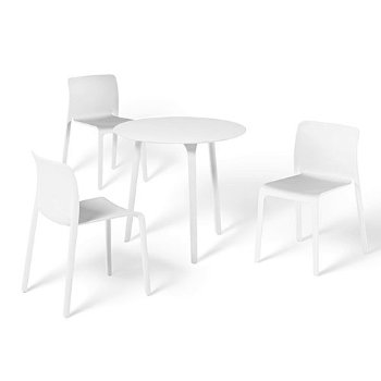 Shown in 32-In. Round Table/White Legs/White Top, in use