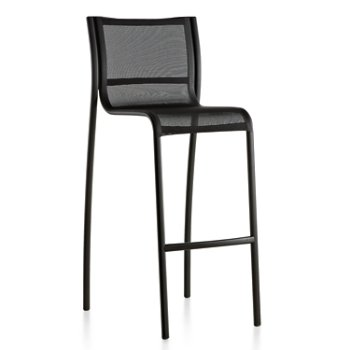 Shown in Black Frame/Black Poly-Cotton Seating, High Height