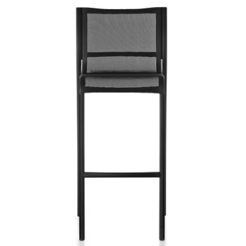 Shown in Black Frame/Black Poly-Cotton Seating, High Height, Front view