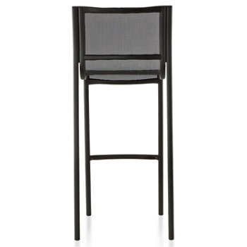 Shown in Black Frame/Black Poly-Cotton Seating, High Height, Rear view