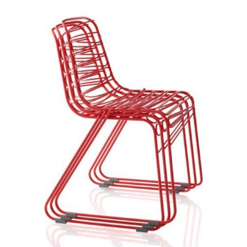 Flux Chair, stacked in Red
