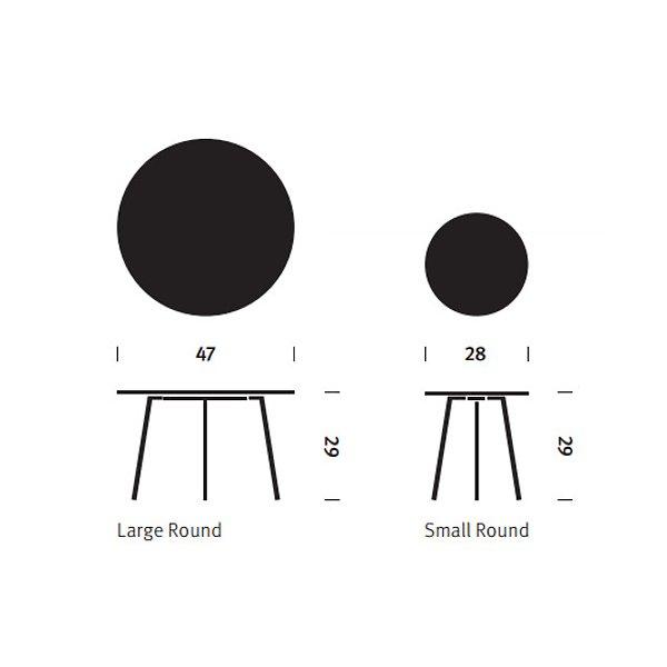Magis Striped Tavolo Table, Round