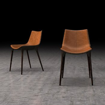 Shown in Aged Caramel Leather with  Cathedral Ebony Legs