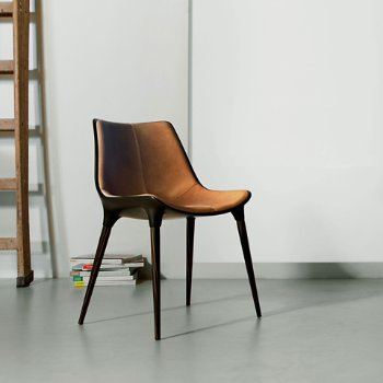 Shown in Aged Caramel Leather with  Cathedral Ebony Legs, in use