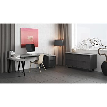 Amsterdam File Credenza with Amsterdam Filing Cabinet, Amsterdam Desk and Langham Dining Chair