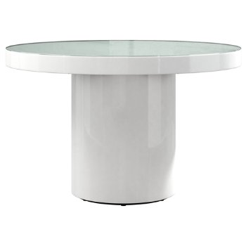 Shown in White Glass on White Lacquer finish, 47 inch