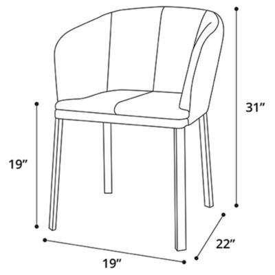 Phenomenal Como Dining Chair By Modloft At Lumens Com Andrewgaddart Wooden Chair Designs For Living Room Andrewgaddartcom