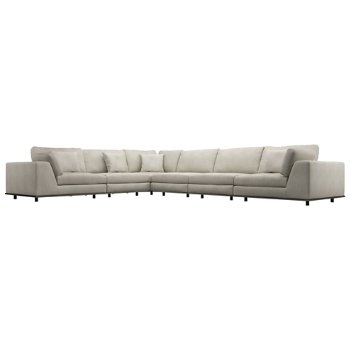 Perry Preconfigured Extra Seating L Sectional Sofa