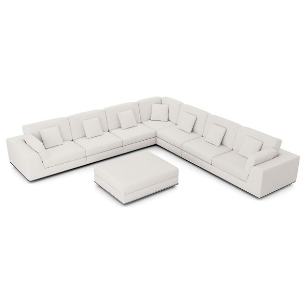 Perry Sectional Large 2 Arm Corner Sofa With Ottoman By Modloft At Lumens Com
