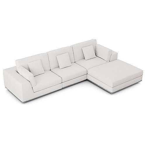 Miraculous Perry Three Seat Sofa W Ottoman By Modloft At Lumens Com Pabps2019 Chair Design Images Pabps2019Com