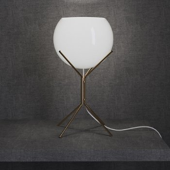 Shown in White Glass on Brass finish