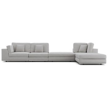 Perry 1 Arm Corner Sofa with 2 Ottomans