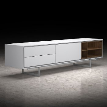 Shown in White and Walnut finish