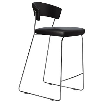 Shown in Black Eco Leather, Tall size