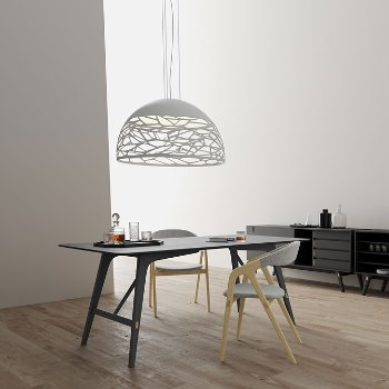 Haru Dining Table with Kaede Chair and Haru Sideboard